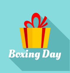 boxing final day logo set flat style vector image