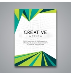 Business report design flyer template background vector