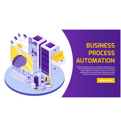 business robotization horizontal banner vector image