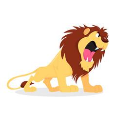Cartoon roaring lion vector