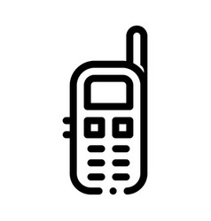 cellular telephone symbol icon outline vector image