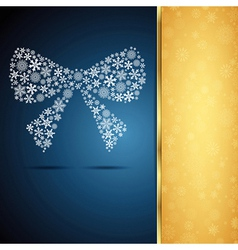 Christmas bow snowflake design background vector image