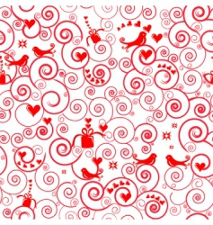 Christmas swirl pattern vector image