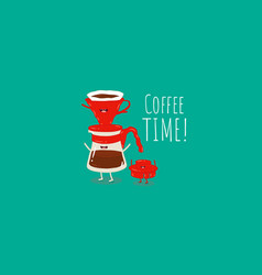 Coffee dripper filter pour over maker image vector
