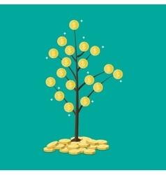 coin tree concept savings vector image