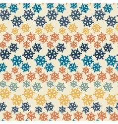 Color abstract snowflake pattern vector image