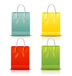 Color shopping bag vector