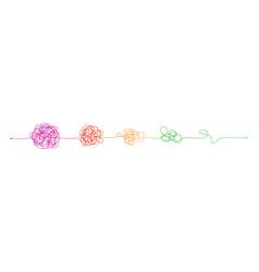 complex to simple messy clew connected lines vector image