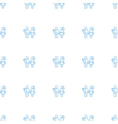 couple with newborn icon pattern seamless white vector image