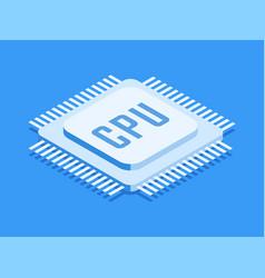 Cpu chip computer processor icon vector
