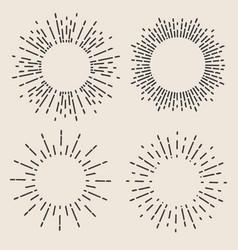 Creative of geometric hand vector