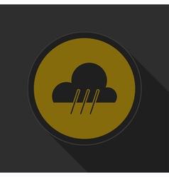 dark gray and yellow icon - rainy vector image