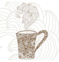 decorative coffee cup vector image