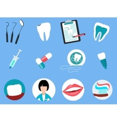 Dental Treatment Design Flat Concept vector image
