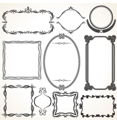 Design ornamental vintage borders and frames vector