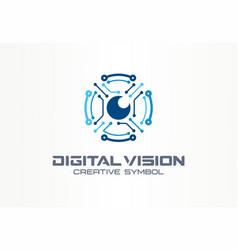 digital vision creative symbol concept circuit vector image