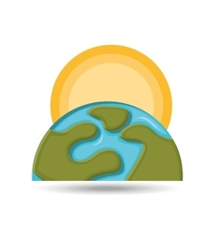 Environment globe warming icon graphic vector