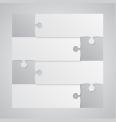 Four grey piece puzzle infographic 4 step puzzle vector