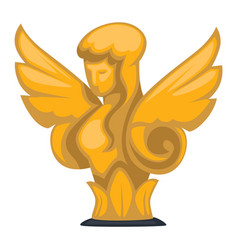 Gold sculpture empire epoch female figure with vector
