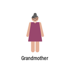 grandmother icon can be used for web logo mobile vector image
