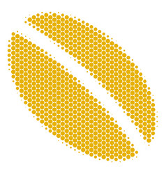 Halftone dot wheat seed icon vector
