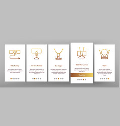 Hdtv antenna device onboarding icons set vector