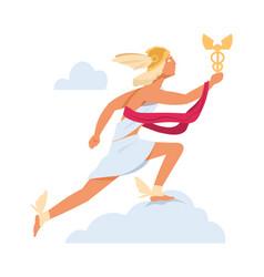 hermes or mercury antique mythology character vector image