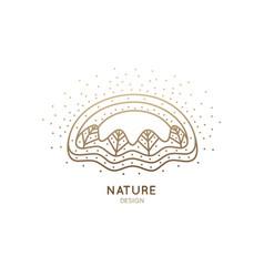 logo winter landscape vector image