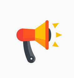 Loudspeaker megaphone icon flat style vector