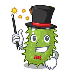 Magician fresh soursop fruit isolated on mascot vector