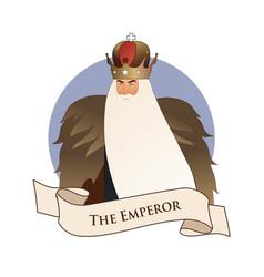 major arcana emblem tarot card the emperor man vector image