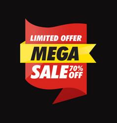 Mega sale offer banner vector