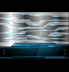 metal blue light technology black monitor vector image