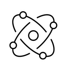 Monochrome molecule model icon vector