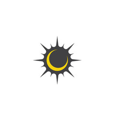 Moon sun graphic design template isolated vector