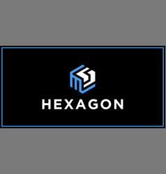 Ms hexagon logo design inspiration vector