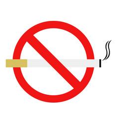 no cigarette vector image