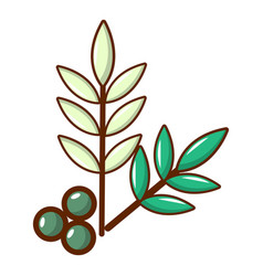 Olives icon cartoon style vector