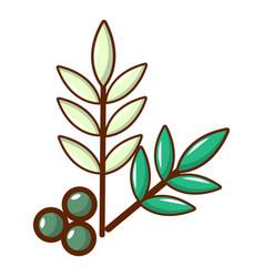 Olives icon cartoon style vector