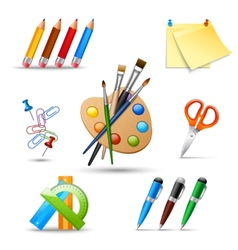 Paint tools set vector image