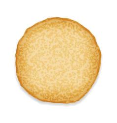 pancake sweet food 3d realistic decoration vector image