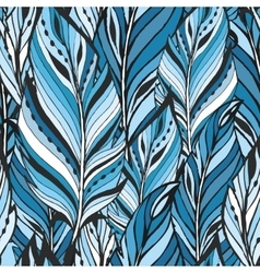 Pattern with feathers texture vector image