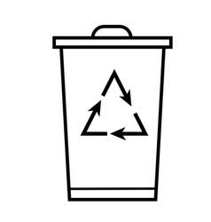 recycling bin icon vector image