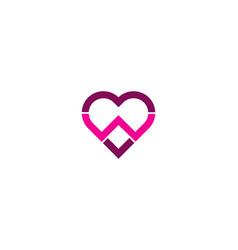 Romance letter w logo icon design vector