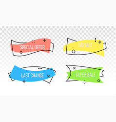 Sale promotion banner discount ribbon tag vector