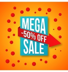 Sale special offer 50 off vector