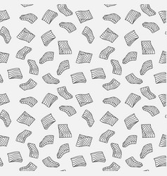 Salmon fillet minimal outline seamless vector