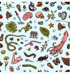 science seamless pattern scientific laboratory vector image