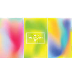 screen gradient set vector image