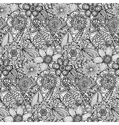 Seamless pattern with hand drawn doodle ornate vector